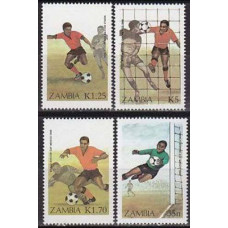 1986 Zambia Michel 360-363 1986 World championship on football of Mexico 15.00 €