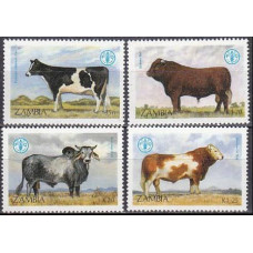 1987 Zambia Mi.429-432 Fauna 7,50 €