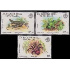 1981 Zil Elwannyen Sesel Mi.30-32 Reptiles 3,60 €