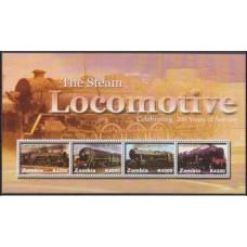 2005 Zambia Mi.1562-1565KL Locomotives 8,50 €