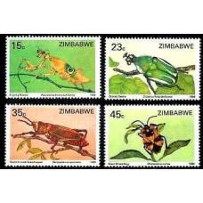 1988 Zimbabwe Mi.374-377 Insects 5.50 €