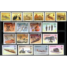 1990 Zimbabwe Mi.418-435 Fauna 20,00 €