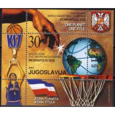 2002 Yugoslavia Mi.3086/B54 Basketball 10,00 €