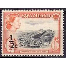 1961 Swaziland Mi.67** Elizabet II 5.00 ?