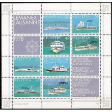 1978 Switzerland(Helvetia) Mi.1120-27/B23 Ships 6,00 €