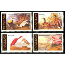 1986 Tanzania Mi.315-318 Audubon 1.80 ?