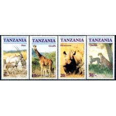 1986 Tanzania Mi.328-331 Fauna 1.50 ?