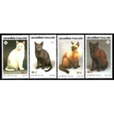 1995 Thailand Mi.1649-1652 Cats 4.50 ?