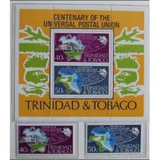 1974 Trinidad & Tobago Mi.328-329+B12 UPU / Transport 36.30 €