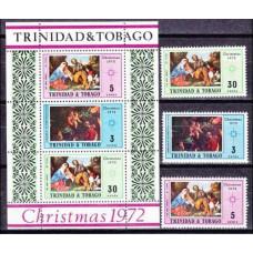 1972 Trinidad & Tobago Mi.311-313+B6 Art 3,40 €