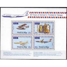 1977 Trinidad & Tobago Mi.351-354/B19 Planes 5,50 €