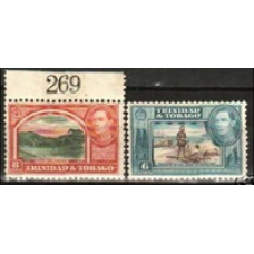 1938 Trinidad & Tobago Mi.138-139** George VI 2.20