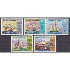 1971 Tristan da Cunha Mi.157-161 Ships with sails 6,50 €