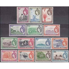 1954 Tristan da Cunha Mi.14-27* Sea fauna 180,00 €