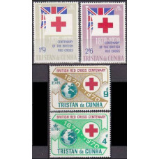 1970 Tristan da Cunha Mi.133-136 The Red Cross Society 1,50 €