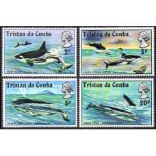 1975 Tristan da Cunha Mi.202-205 Sea fauna 10,00