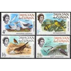 1968 Tristan da Cunha Mi.116-119 Birds 4.80 €