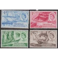 1969 Tristan da Cunha Mi.124-127 Ships with sails 4.00 €