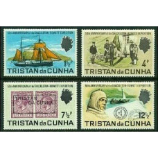 1971 Tristan da Cunha Mi.153-156 Ships with sails 9.50 €