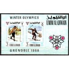 1968 Umm Al Qiwain Mi.241-42/B12b 1968 Olympiad Grenoble 6.00 ?