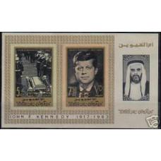 1965 Umm Al Qiwain Michel38-9B2b J.F.Kennedy 10.00 €