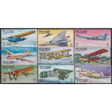 1968 Umm Al Qiwain Mi.296-304 Planes 8,50