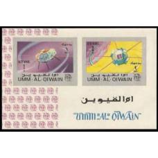 1966 Umm Al Qiwain Mi.87-88/B5b Satellite - Alouette / Vanguard 1 5,00 €