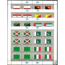 1984 UNO New York Michel 448-463KL Flags 30.00 ?