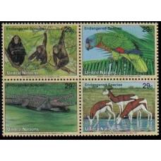 1994 UNO New York Mi.663-666VB Fauna 3,00 €