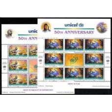 1998 UNO New York Mi.720KL-721KL UNICEF, children's stories 14,00 €