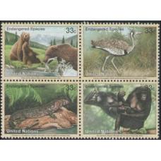 2000 UNO New York Mi.831-834VB Fauna 3,50 €
