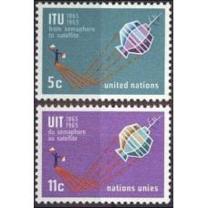 1965 UN New York Mi.152-153 Satellite 0,50 €