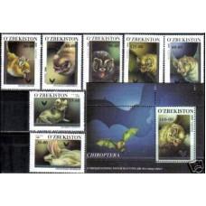 2001 Uzbekistan Mi,266-72+273/B26 Fauna 8.50 €